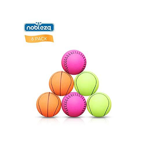 Nobleza - 6 Stück Hundeball Premium Aus Naturkautschuk -...