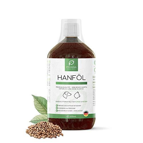 Privana Reines Hanföl für Hunde und Katzen, 500 ml, Futteröl,...