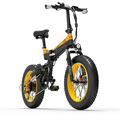BEZIOR Elektrofahrrad 20' klappbares E-Bike 7 Gang-Schaltung mit...