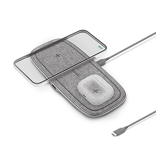 Moshi Sette Q Kabelloses Ladepad, 15 W Dual Wireless Ladestation...