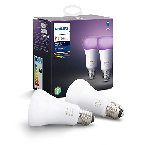 Philips Hue White & Color Ambiance E27 LED Lampe Doppelpack,...