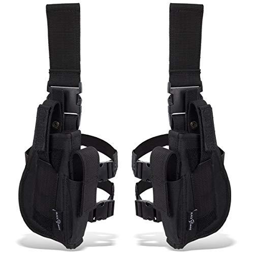 Black Snake® Tiefziehholster Set rechtes + linkes Beinholster -...