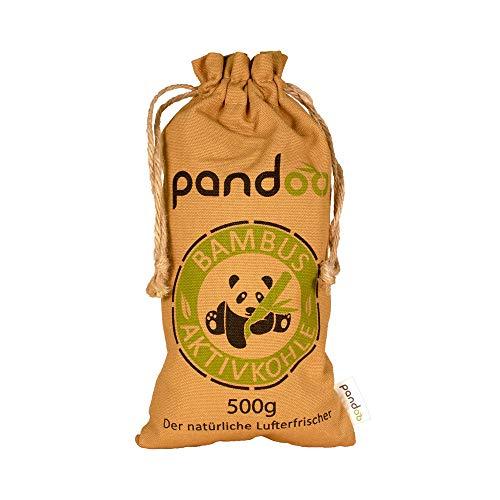 pandoo Bambus Lufterfrischer 500g natürlich mit Aktivkohle –...