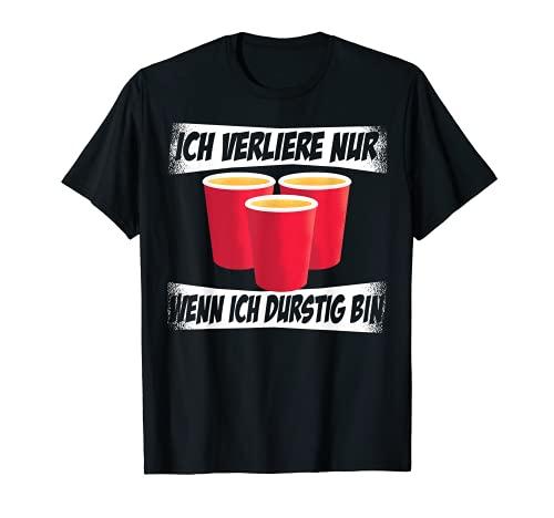 Beerpong Bierpong Spieler Bier Pong Party Trinkspiel T-Shirt