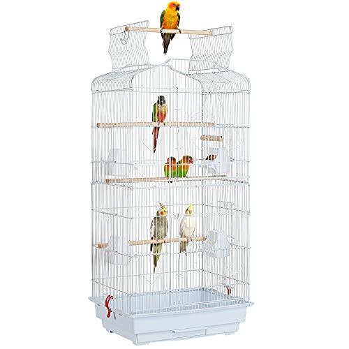 Yaheetech Vogelkäfig Vogelvoliere Tierkäfig Vogelhaus für...