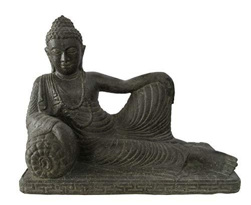 STONE art & more liegender Buddha Relaxed, 60 cm, Steinfigur,...