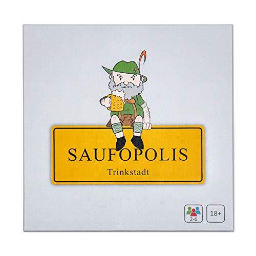 SAUFOPOLIS – Das kompromisslose Trinkspiel | Brettspiel -...