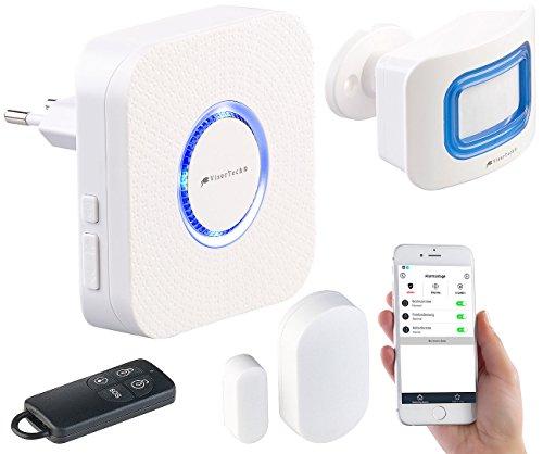 VisorTech WLAN Alarm: 4-teilige WLAN-Alarmanlage,...  *