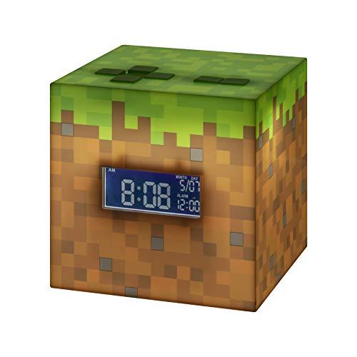 Paladone Minecraft Wecker mit offizieller Sonnenaufgangsmusik,...