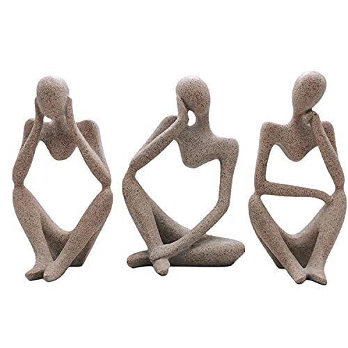 Moderne Abstrakte Denker Menschen Ornament Skulptur und Figuren...