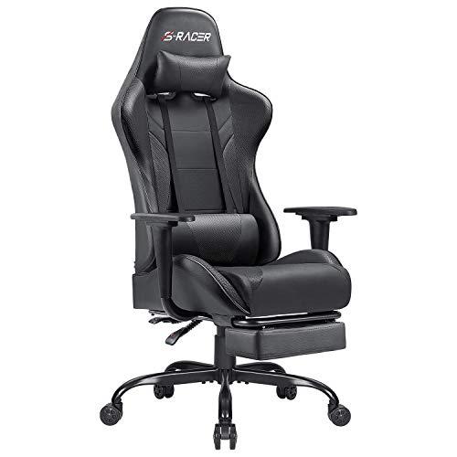 Homall Gaming Stuhl mit Fußstütze Schreibtischstuhl Bürostuhl...