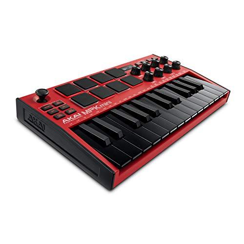 AKAI Professional MPK Mini MK3 Red - 25-Tasten USB MIDI Keyboard...