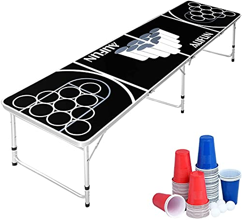 N\W Beer Pong Tisch Set Klappbarer inkl.100 Becher (50 Rot & 50...