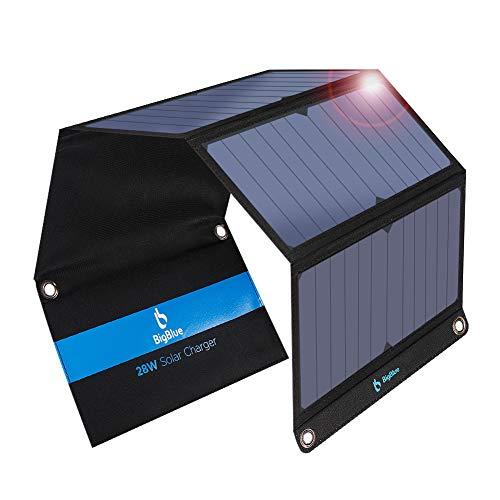 BigBlue 28W tragbar Solar Ladegerät 2-Port USB 4 wasserdichte...