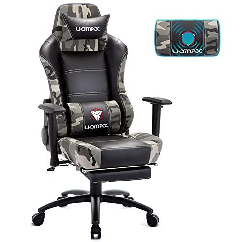 UOMAX Gaming Stuhl mit Massage, Ergonomischer Gamer Sessel mit...