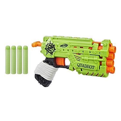 Hasbro Nerf Zombie Strike Quadrot, Spielzeugblaster mit 4 Läufen