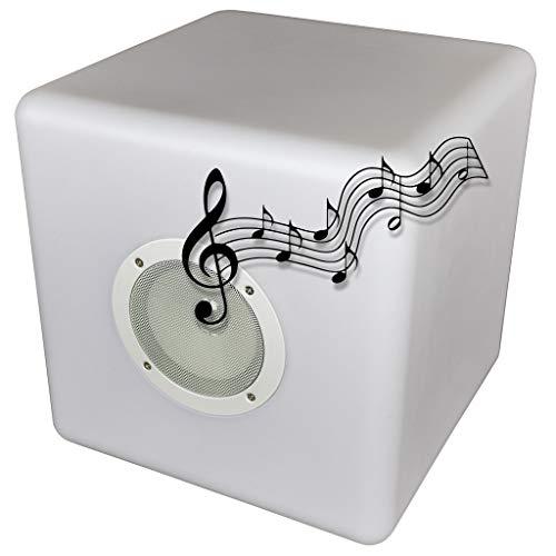Deco4Me LED Würfel 30x30x30 mit Lautsprecher Soundbar Bluetooth...