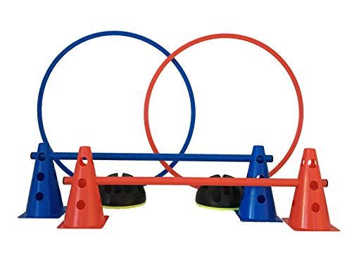 LA-24 Agility Hürden und Reifen-Set Plus (rot/blau)