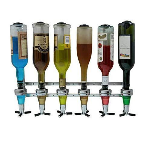 Getränkeportionierer, Bar Butler 25ml Wand-Flaschenhalter für 6...