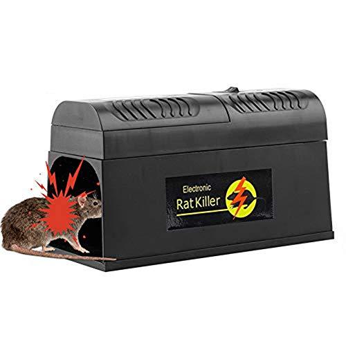 Elektronische Rattenfalle, elektrischer Mäusekiller Professional...