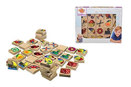 Eichhorn 100072402 - Bilder-Memo Spiel, 40 Steine mit 20 Motiven,...