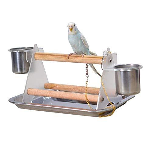 MMIAOO Papageien-Schreibtischständer aus Holz mit Stativ und...
