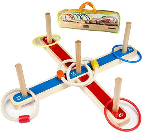 Wurfspiel Ringwurfspiel, UlifeME Garten Spiele für Kinder und...