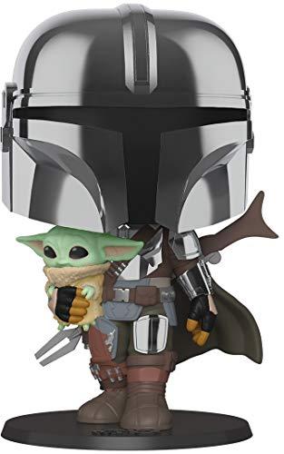 Funko 49931 POP Star Wars:Mandalorian-10 Mandalorian (w/Chrome...