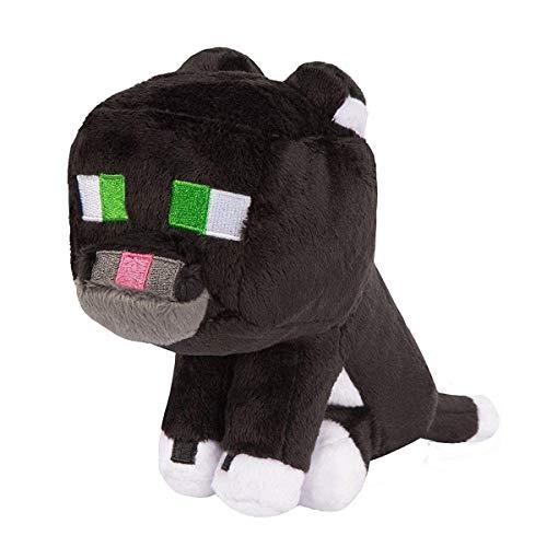 Minecraft 6363-'Tuxedo Katze Plüsch Spielzeug, Schwarz, 20cm