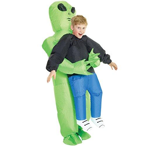 Morph Aufblasbares Alien Kostüm für Kinder, lustiges Halloween...