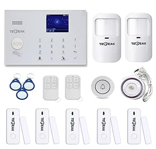 GSM/WiFi Alarmanlagen Komplettsystem, TECPEAK Alarmanlage Haus...