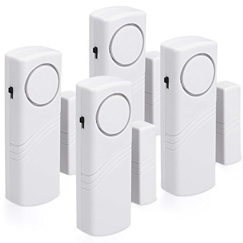 kwmobile 4er Set Tür Fenster Alarm - 4x akustischer...
