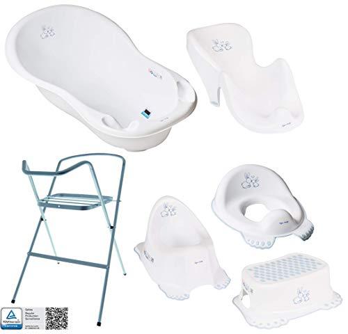 Baby Badewanne mit Gestell und Badewannensitz - Verschiedene Sets...