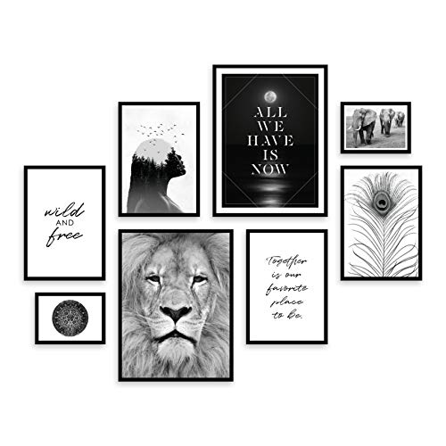 ARTFAVES® Poster Set - WILDLIFE | Wanddeko Wohnzimmer &...