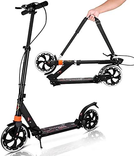 Yuanj Kick Scooter für Erwachsene/Teenager, Tretroller klappbar...