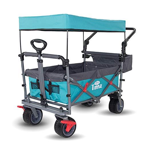 TMZ Faltbar Bollerwagen mit Dach, Klappbar Handwagen für Kinder,...