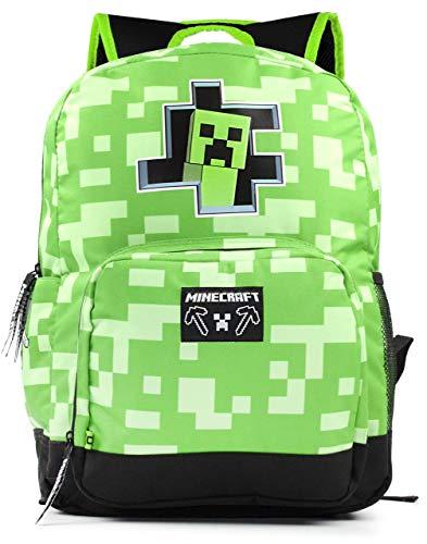 Minecraft Creeper Inside Kids Green School Backpack