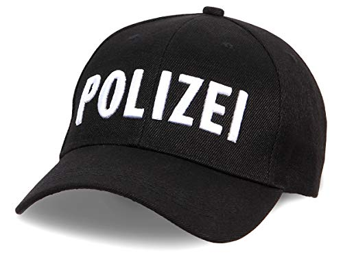 Shirt-Panda Herren & Damen Polizei Cap 3D-Stick - Baseballmütze...