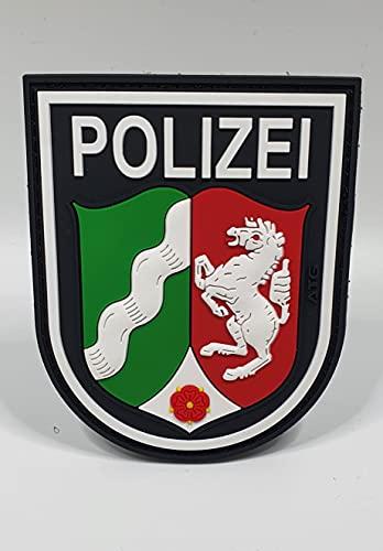 ATG Ärmelabzeichen Polizei NRW 3 D Rubber Patch (Farbig)