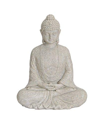 Buddha-Figur sitzend, 23cm in Beige   Deko-Artikel für Wohnung,...