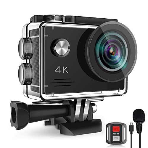 Action Cam 4K 20MP, 40M Unterwasserkamera mit EIS Anti-Shake,...