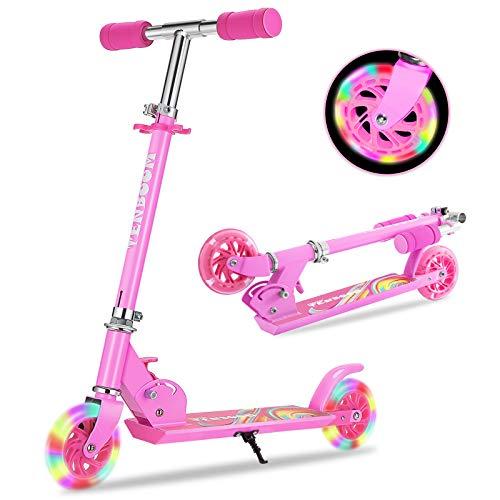 TENBOOM Roller Kinder Scooter 6 Jahre, 2 LED aufleuchten Räder...