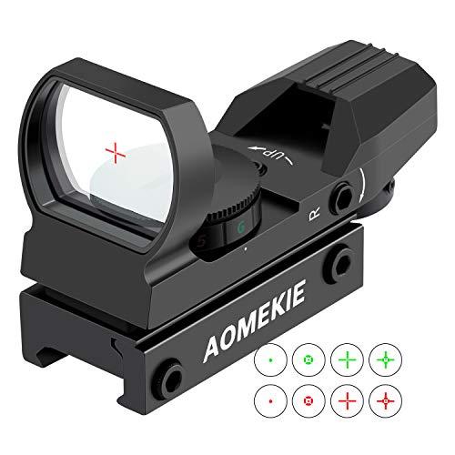 AOMEKIE Red Dot Visier Airsoft mit 20mm/22mm Schiene...