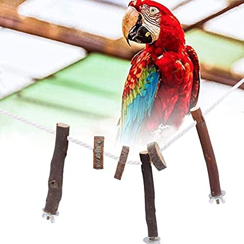 cakefly Vogelkäfig aus Holz, Sitzstangen für Wellensittiche,...
