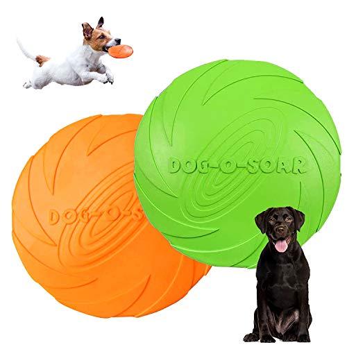 Hunde Frisbees,Hund Scheibe,2 Stück hundespielzeug Frisbee,Gummi...