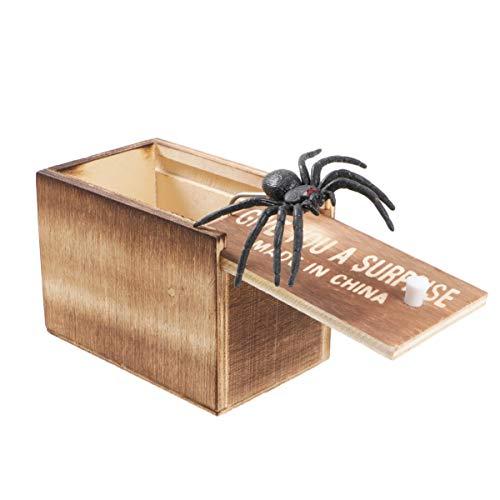 STOBOK Spinnenstreich Schrecken Box aus Holz Überraschungsbox...