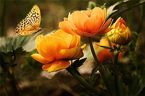 N\A Stichsäge Stichsäge 1000 Stück Puzzel - Orange Flower with...