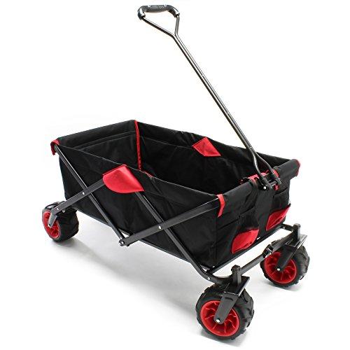 Faltbarer Bollerwagen Transportwagen mit Kunststoffrädern und...