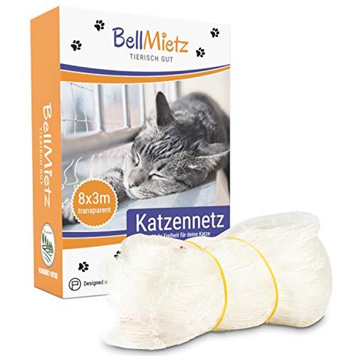 BellMietz® Katzennetz für Balkon & Fenster (durchsichtig) |...