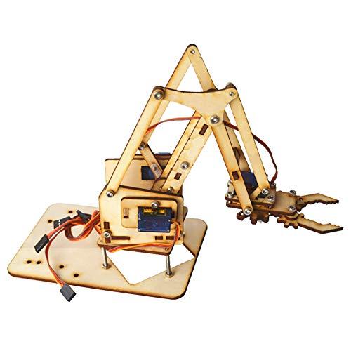 4 DOF Holz Holz Roboterarm Holz Roboter Mechanischer Arm sg90...